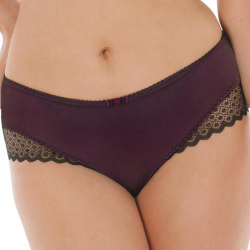 Curvy Kate - Shorty Curvy Kate Showgirl TRIXIE noir/aubergine - Culotte, string et tanga