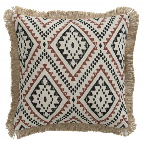 3S. x Home - Coussin all over Terracotta Naturel 40x40 - MARRAKECH - Coussins