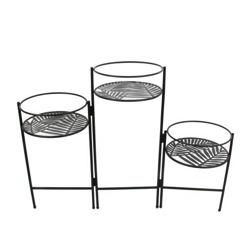 3S. x Home -  Porte Plantes X3 En Eventail Metal - Plante artificielle