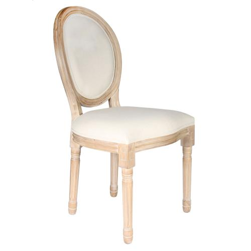 3S. x Home - Chaise Eleonor Beige - Chaise, tabouret, banc