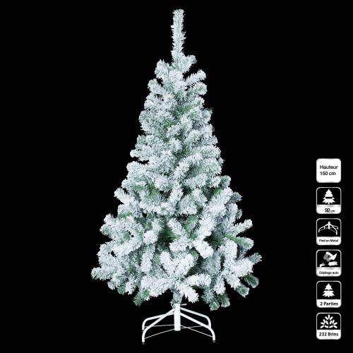 3S. x Home - Sapin FLOQUE 150Cm - Plante artificielle