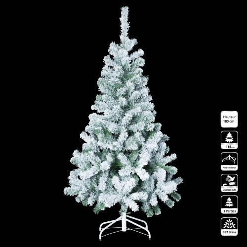 3S. x Home - Sapin FLOQUE 180Cm - Plante artificielle