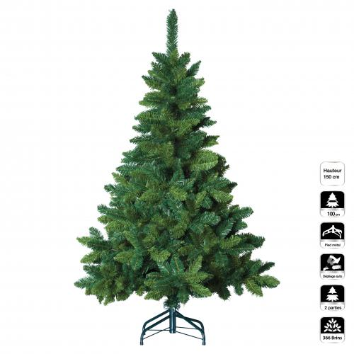 3S. x Home - Sapin BLOOMING Vert 150Cm - Plante artificielle
