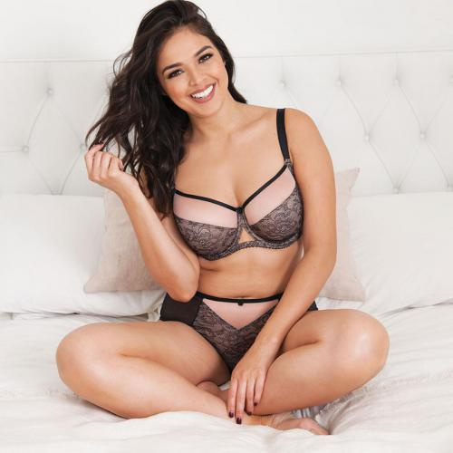 Shorty Curvy Kate VICTORY AMORE black/rose Curvy Kate