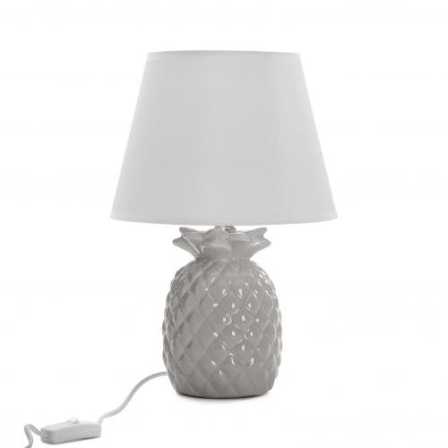 3S. x Home - Lampe à Poser Ananas Gris PINYA - Luminaire