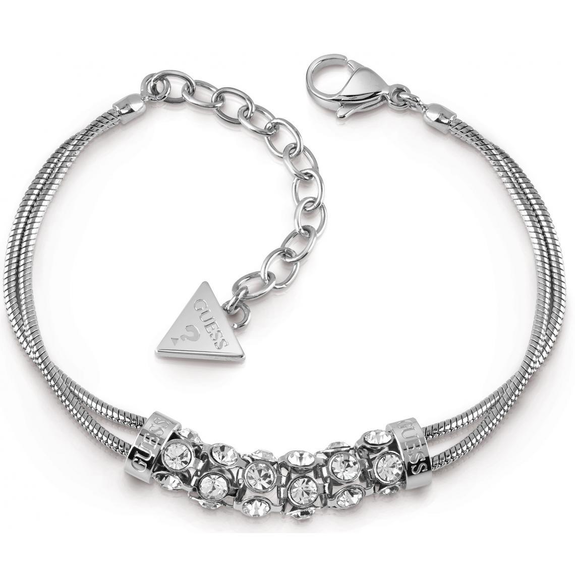 Promo : Bracelet Guess Bijoux UBB28061 - Acier rhodié cristaux Guess Bijoux