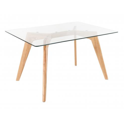3S. x Home - Table à Manger Scandinave Verre 120cm TARJA - Table salle à manger