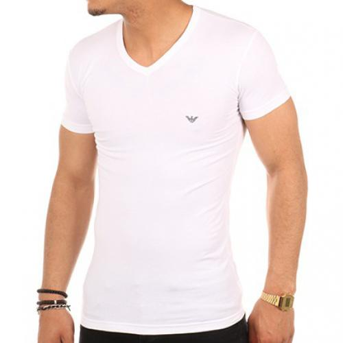 Emporio Armani Underwear - T-SHIRT EAGLE COTON STRETCH - T-shirt / Polo