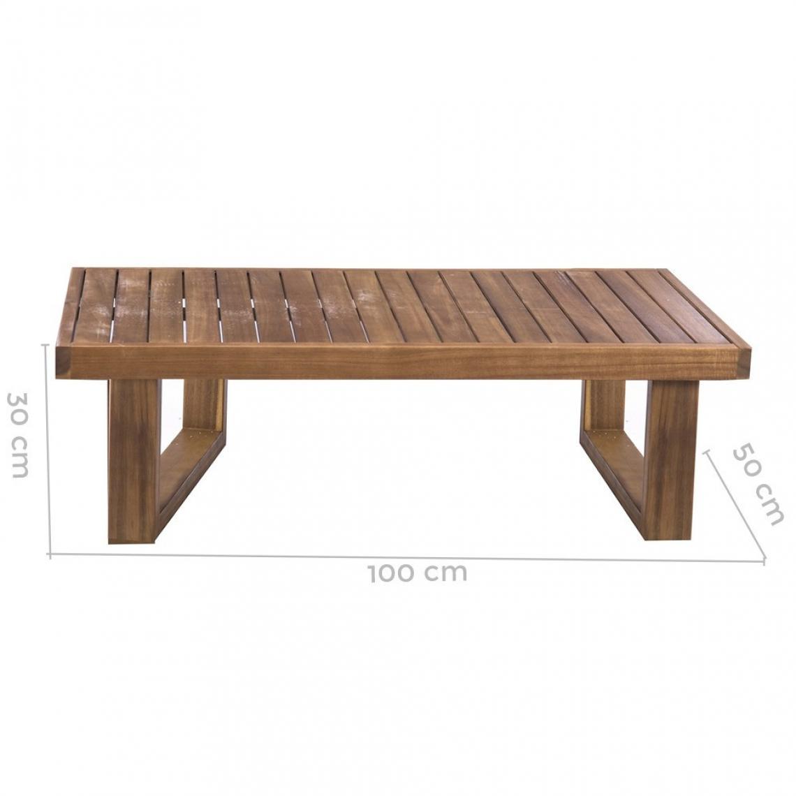 Table Basse Extérieur Teck Marron Luigo 3 Suisses