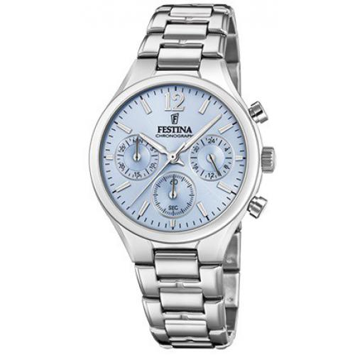 Festina - Montre Festina Boyfriend Collection F20391-3 - Montre Chronographe Acier Femme - Montre Femme