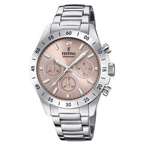 Festina - Montre Festina Boyfriend Collection F20397-3 - Montre Chronographe Acier Femme - Montre Femme