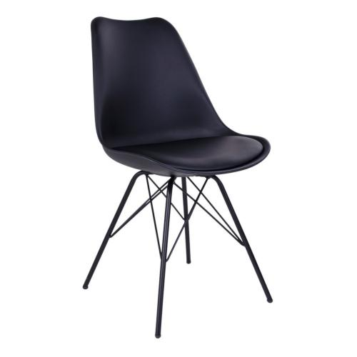 House Nordic - Chaise Design Noire KIRSTEN - House Nordic