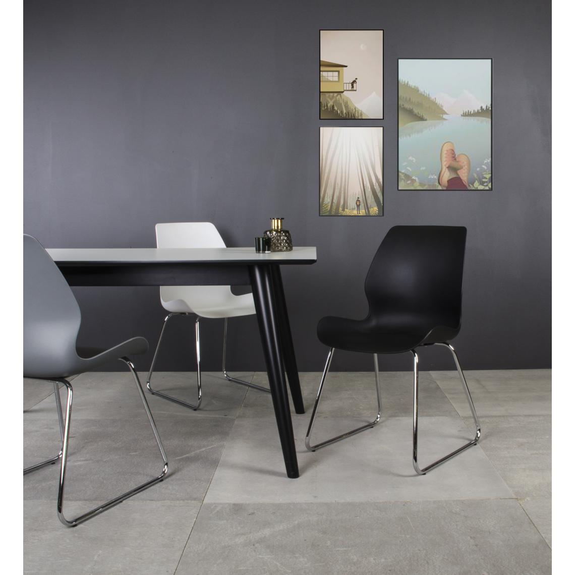 Chaise Design Blanche HANNE SFAPb