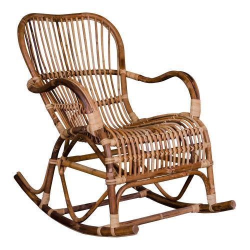Fauteuil Rocking Chair en Rotin ERIK