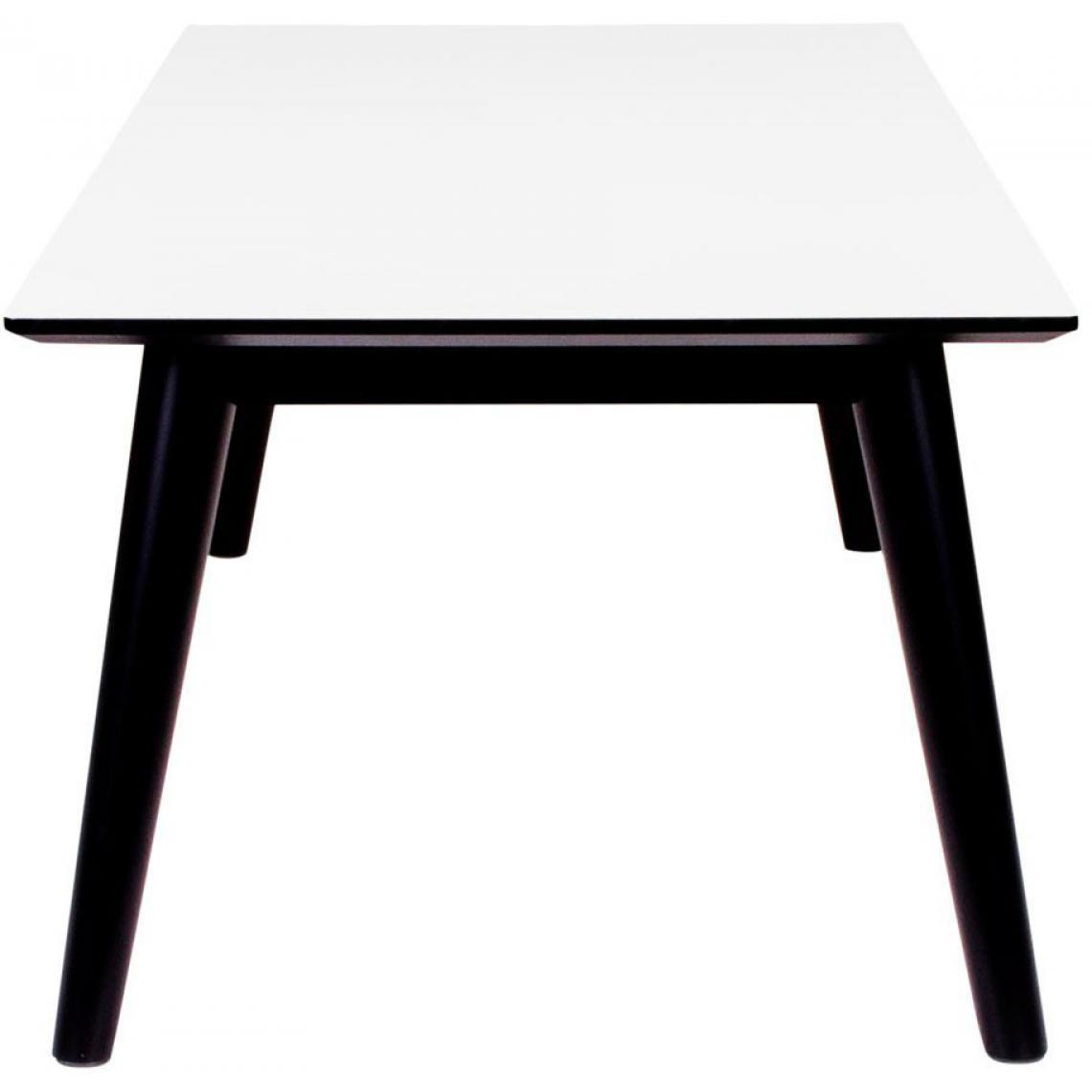 Table Basse Scandinave Blanche Et Noire Lony 3 Suisses