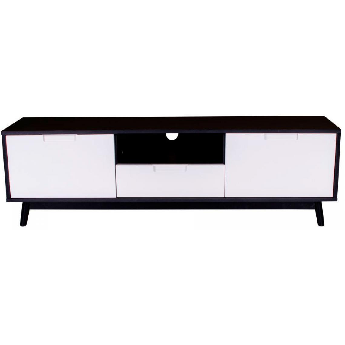 Meuble Tv Grande Taille meuble tv scandinave noir et blanc oli plus de détails