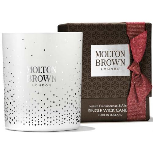Molton Brown - FESTIVE FRANKINCENSE & ALLSPICE SINGLE WICK BOUGIE - La déco