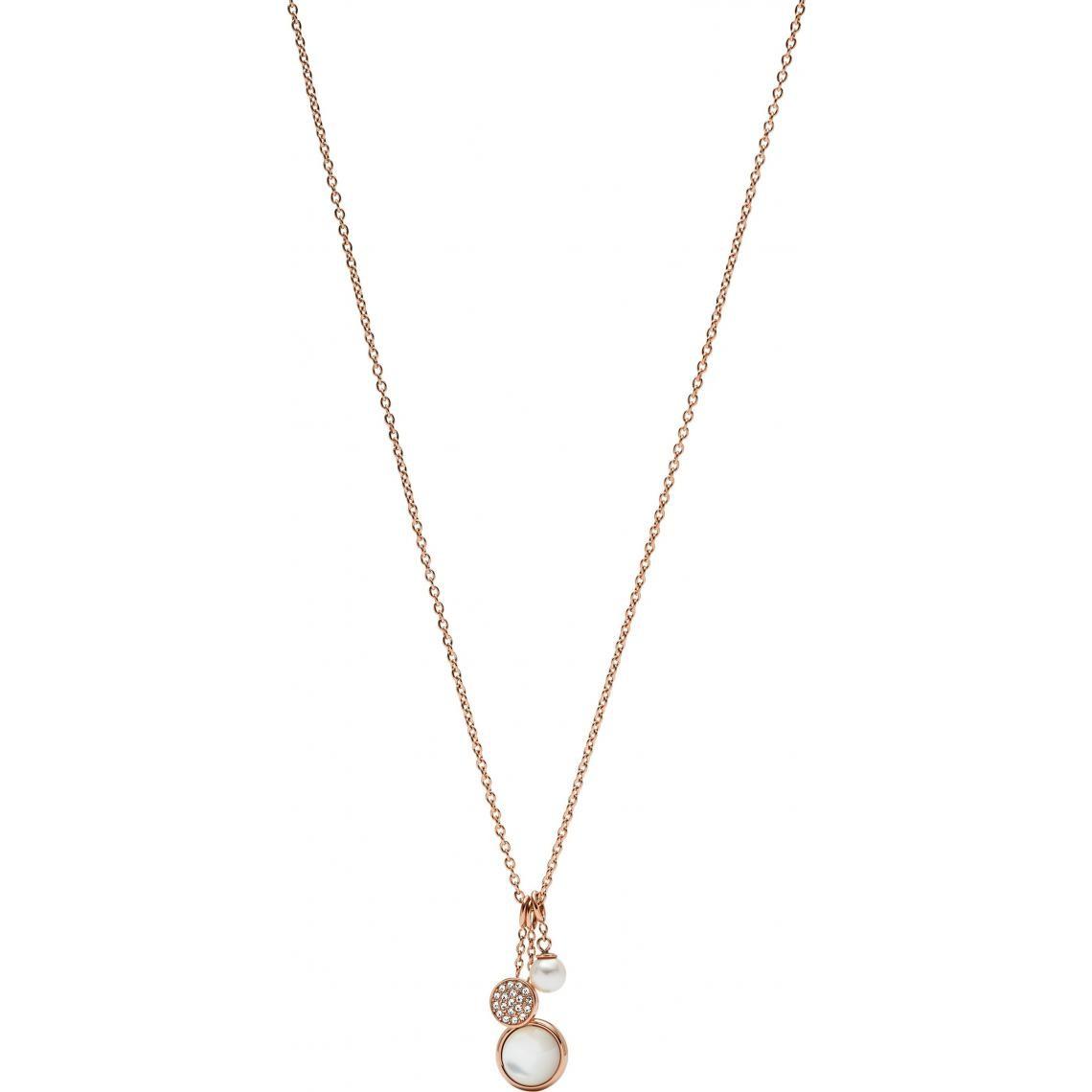 Bijoux Perles Collier Jf02960791 Synthétique Fossil Nacre Trois Cristaux Pendentif Pendentifs Et Blanche ZTXiOPku