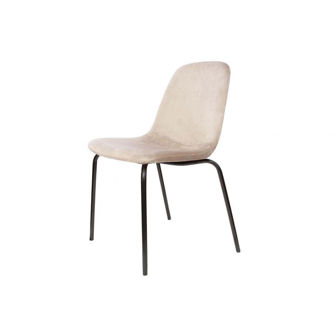 Chaise Taupe Velours en VELVITO Chaise l1T3FKJc