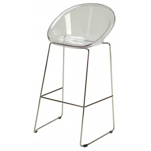 3S. x Home - Tabouret de Bar Design Transparent BOLD - GRANDSOLEIL