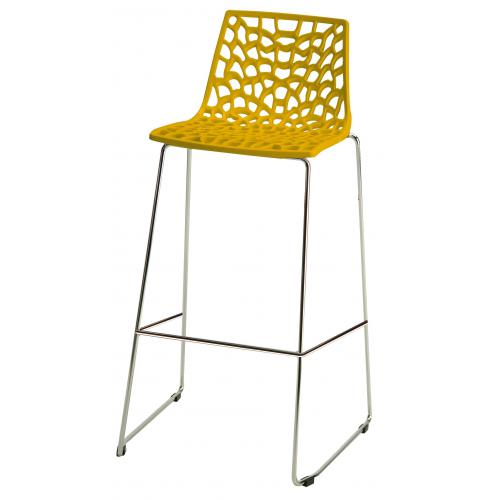 3S. x Home - Tabouret de Bar Design Jaune MASSILIA - GRANDSOLEIL