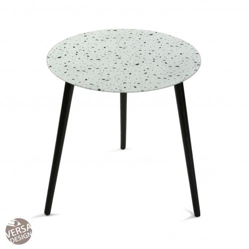 3S. x Home - Table d\'Appoint Verre Gris TERRAZZO - Table basse