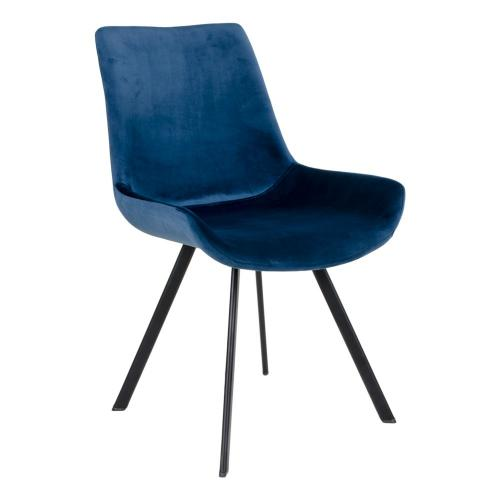 House Nordic - Chaise Velours Bleu DRAMMY - House Nordic