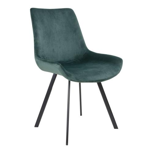 House Nordic - Chaise Velours Vert DRAMMY - Chaise