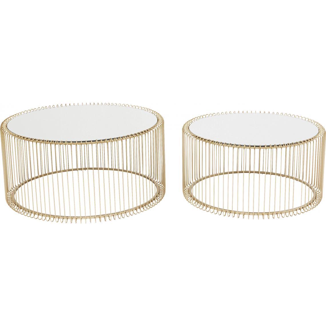 Table Basse Kare Design.Set De 2 Tables Basses Dore Wire 3 Suisses