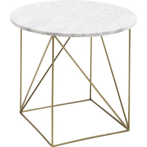 KARE DESIGN - Table d\'Appoint Marbre Blanc SERAFINA - Table basse
