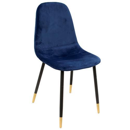 3Suisses   Chaise Velours Bleu ILY   Promos Meubles U0026 Déco