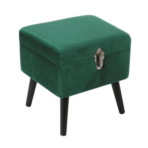 3S. x Home - Coffre Velours Vert MISTRAL - Le salon