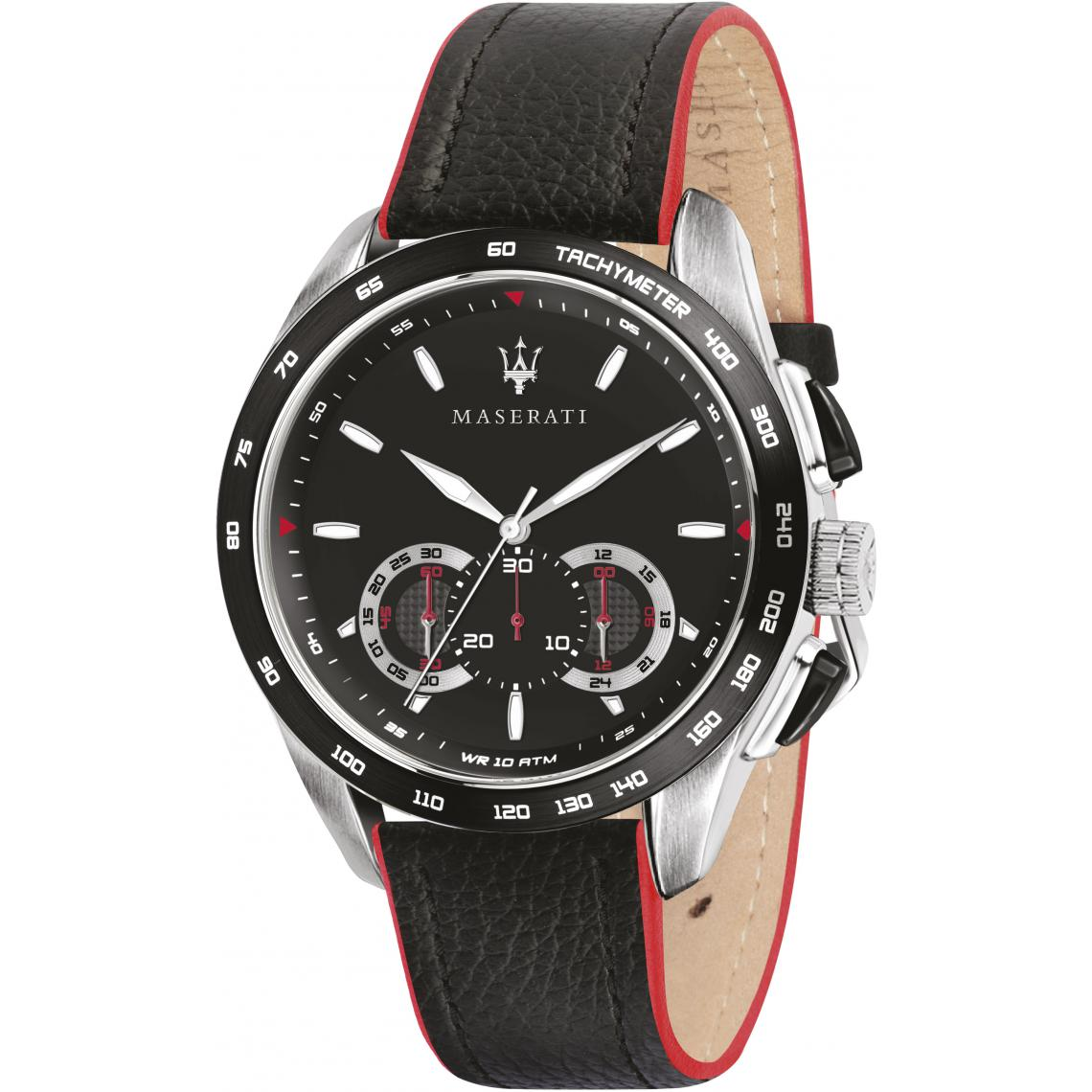 Montre TRAGUARDO R8871612028 - Montre Chronographe Cuir - Maserati - Modalova