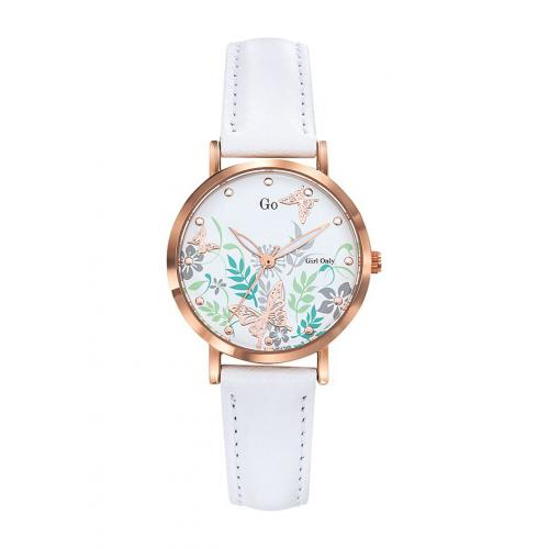 Go Girl Only - Montre Go Girl Only 699178 - Montre Cuir Blanc Femme