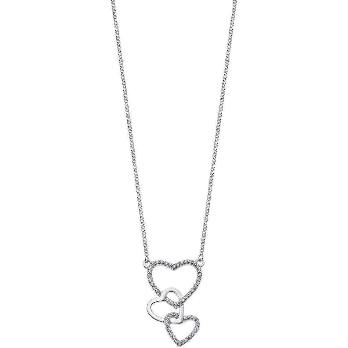 Promo : Collier et pendentif Lotus Silver MOMENTS LP1817-1-1 - Collier et pendentif MOMENTS Argent Coeur Lotus Silver