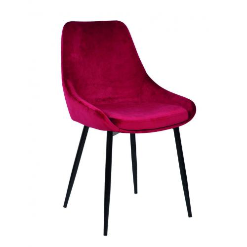 3S. x Home - chaise Velours Rouge - Meuble & Déco