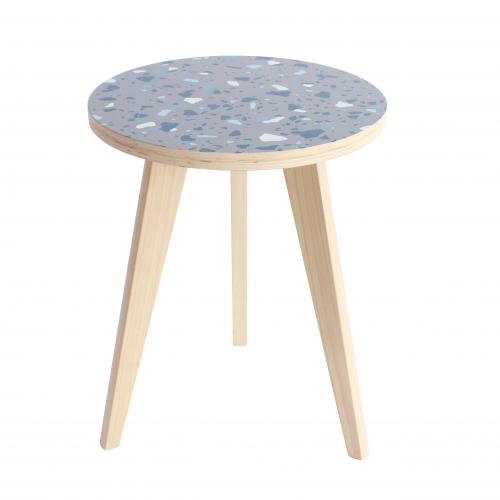 La chaise longue - Table d\'Appoint Bois Terrazzo SPIKA - Le salon