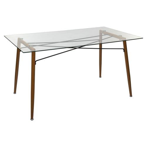 3S. x Home - Table A Diner JINDO En Verre - Table