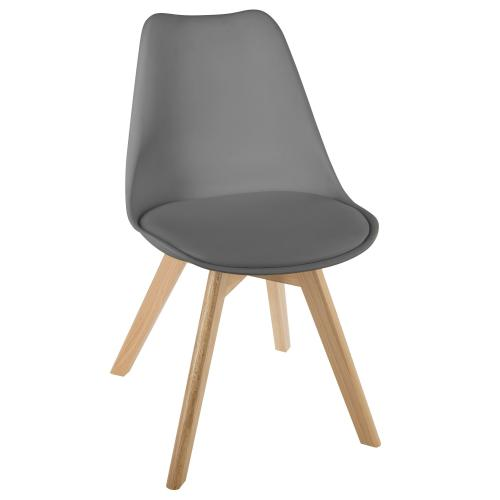 3S. x Home - Chaise A Diner BAYA Gris - Chaise, tabouret, banc