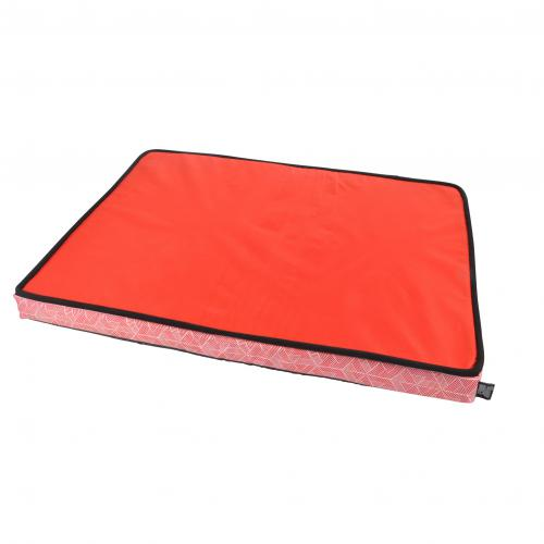 3S. x Home - Coussin Rectangle A Mémoire De Forme Oxford Stylish Rouge - Meuble & Déco