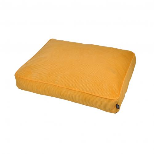 3S. x Home - Coussin Rectangle Déhoussable Côtelé Jaune - Meuble & Déco