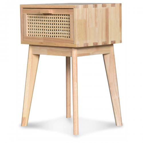 3S. x Home - Chevet Leo Cannage L30 P30 H56Cm - Table de chevet
