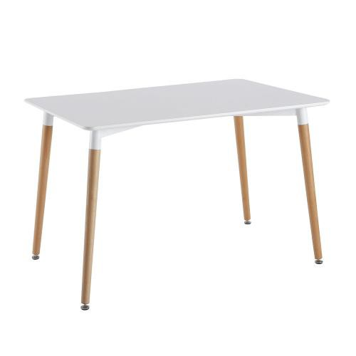 3S. x Home - Table Blanche Rectangulaire 115X75cm - Table salle à manger