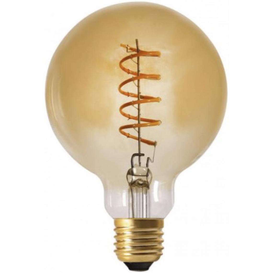 Promo : Ampoule LED Globe Verre Ambré 4W d12,5 Dimmable ROXANE