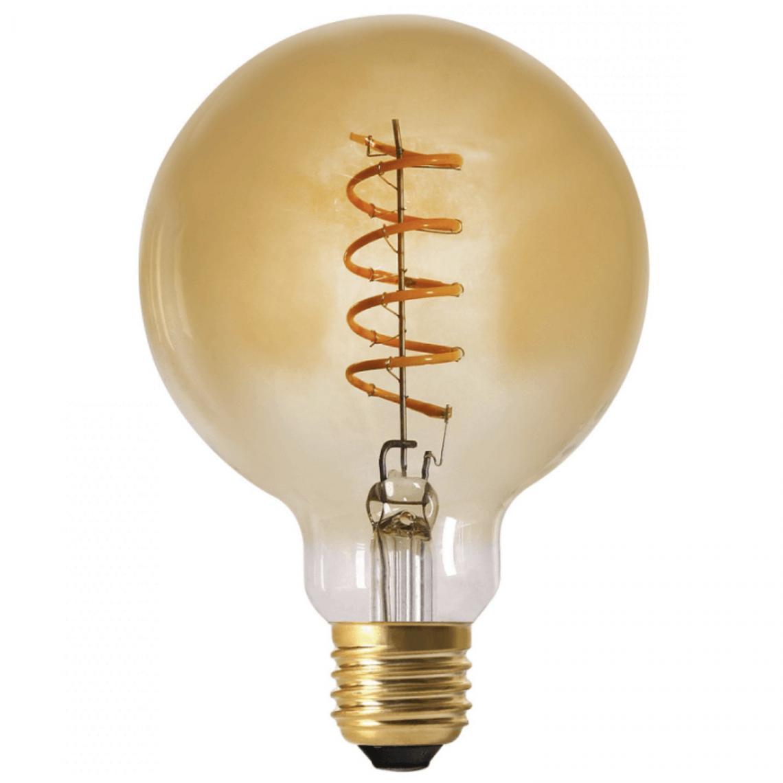 Ampoule LED Globe Verre Ambré 4W d9,5 Dimmable ROXANE