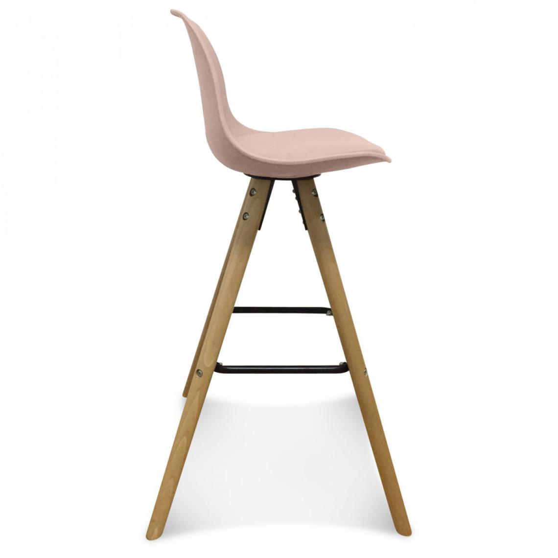 tabouret de bar scandinave rose svalbard 3 suisses. Black Bedroom Furniture Sets. Home Design Ideas