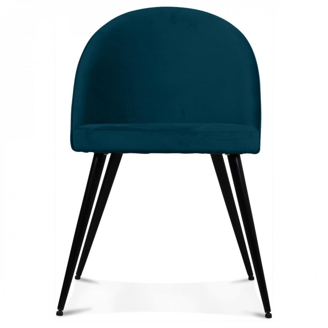 Chaise Tissu Bleu Canard BRADLEY