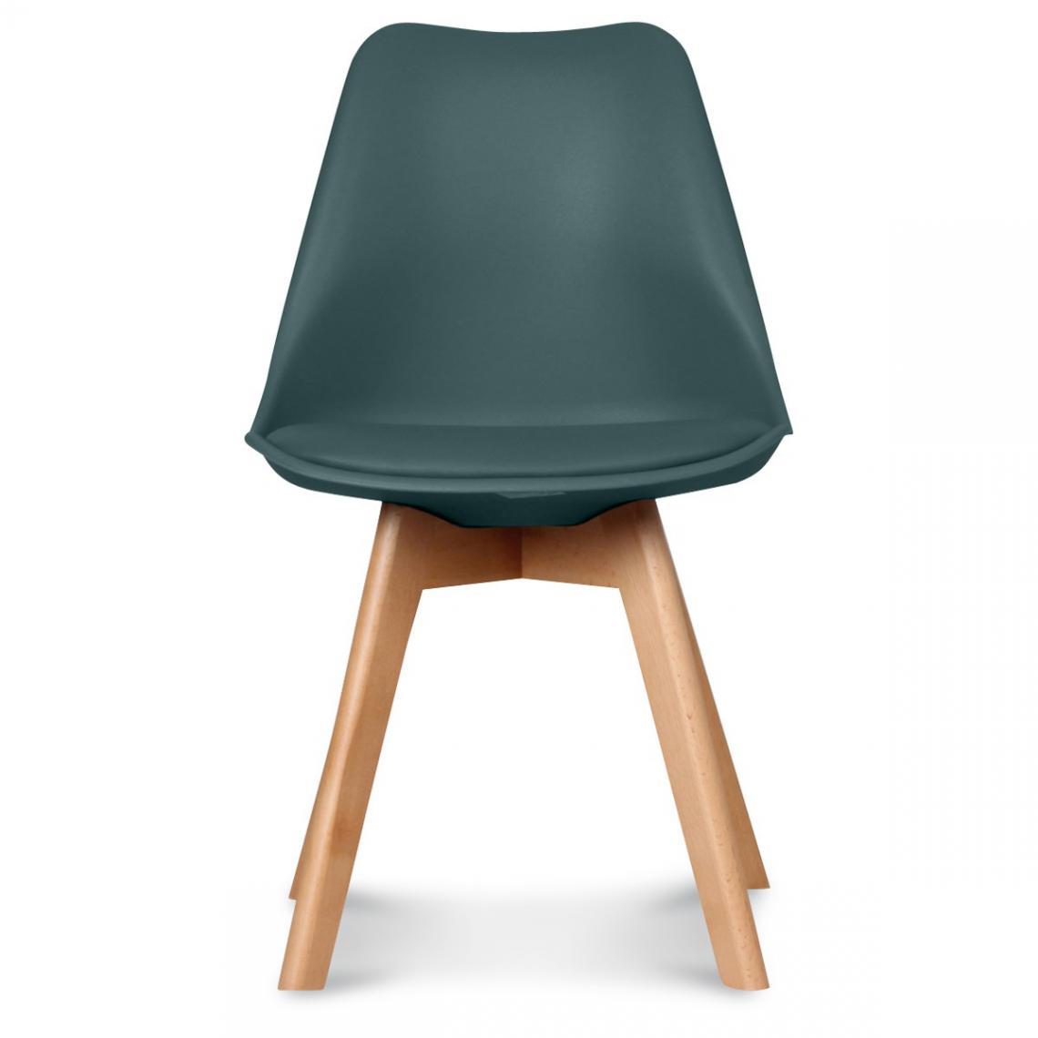 Chaise Design Style Scandinave Bleu Foncé HADES