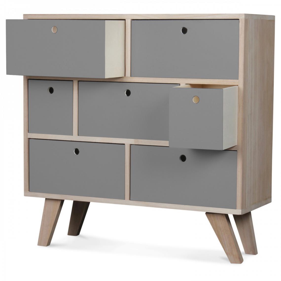 Linge De Maison Montréal commode 7 tiroirs bois gris montreal plus de détails