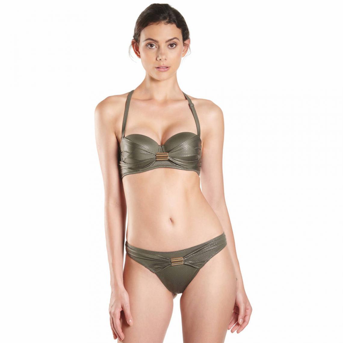 e6b62fe682 Soutien-gorge de bain bandeau vert Haut de maillot de bain bandeaux